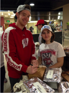 McReavy (Left) and Kokkinias (right) are two of the four co-founders of the UW-Madison Chapter of Campus Kitchens. (UW Campus Kitchens)